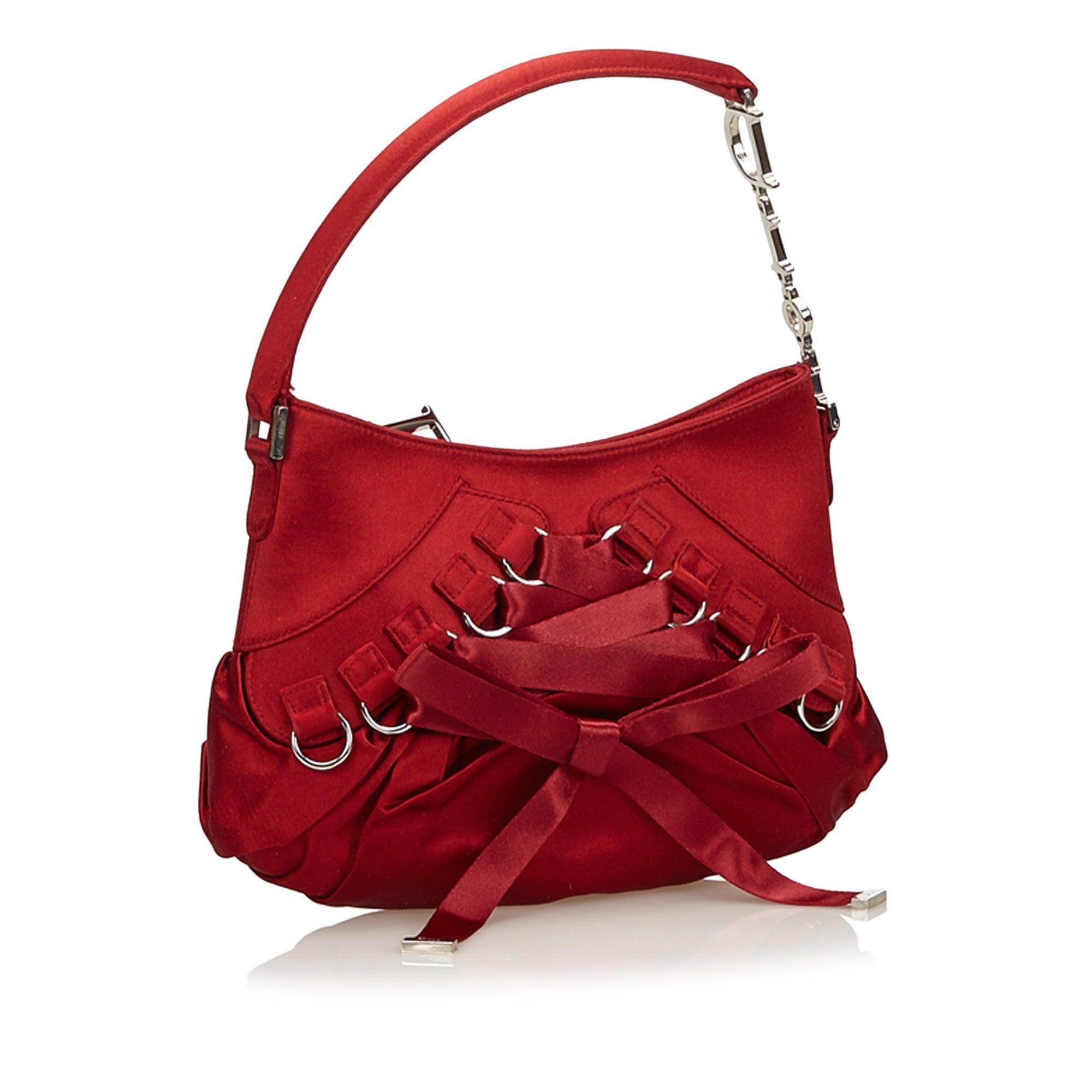 205aaff46d7f8 Dior Red Satin Ballet Handbag at 1stdibs
