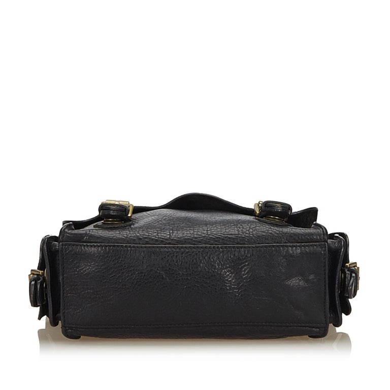 Women s or Men s Mulberry Black Chain Leather Messenger Bag For Sale a8812d3cd3