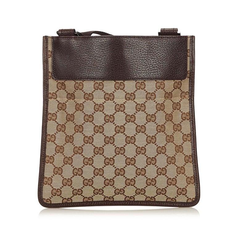 Gucci Brown Guccissima Jacquard Crossbody Bag In Good Condition For Orlando Fl