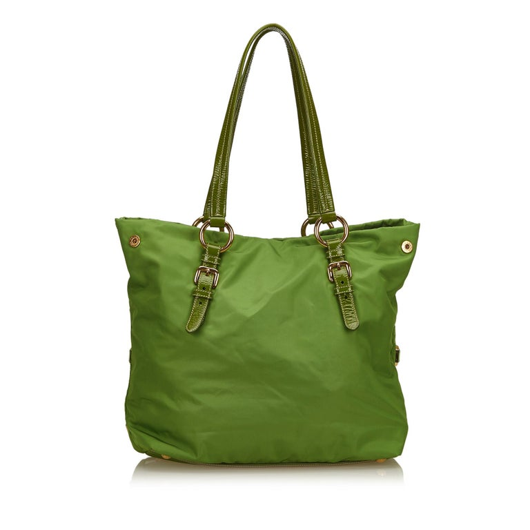172117f38c7f Prada Green x Multi Jewel-Embellished Tote In Good Condition For Sale In  Orlando,