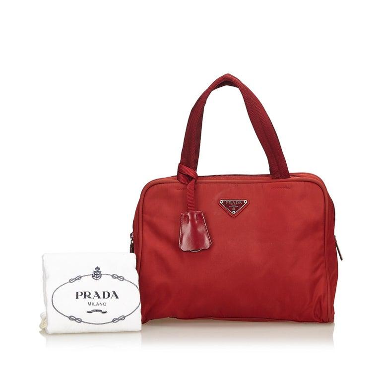 c4597b7f8e Prada Red Nylon Handbag at 1stdibs