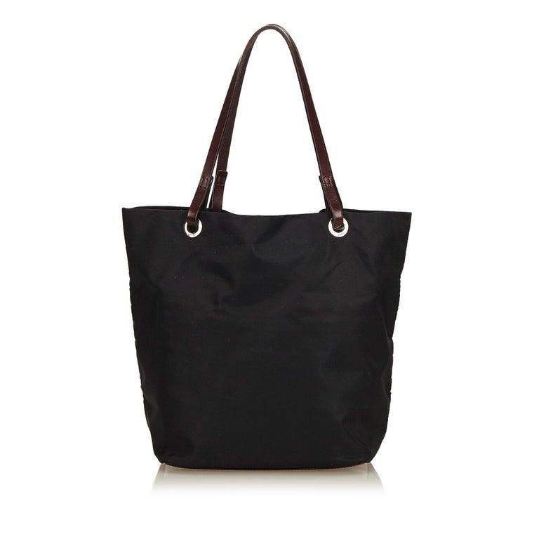 Fendi Black Nylon Tote Bag In Good Condition For Orlando Fl