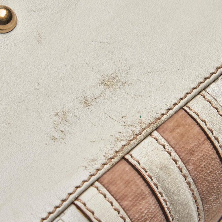 Gucci White Guccissima Leather Treasure Boston Bag For Sale 5