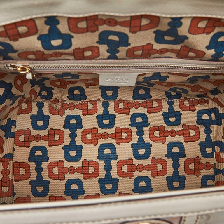 Gucci White Guccissima Leather Treasure Boston Bag For Sale 1
