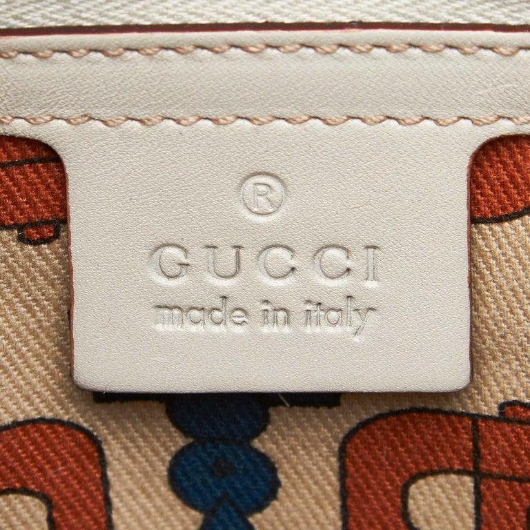 Gucci White Guccissima Leather Treasure Boston Bag For Sale 2