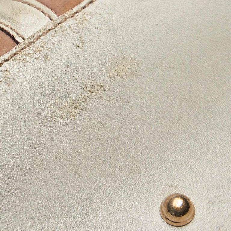 Gucci White Guccissima Leather Treasure Boston Bag For Sale 6