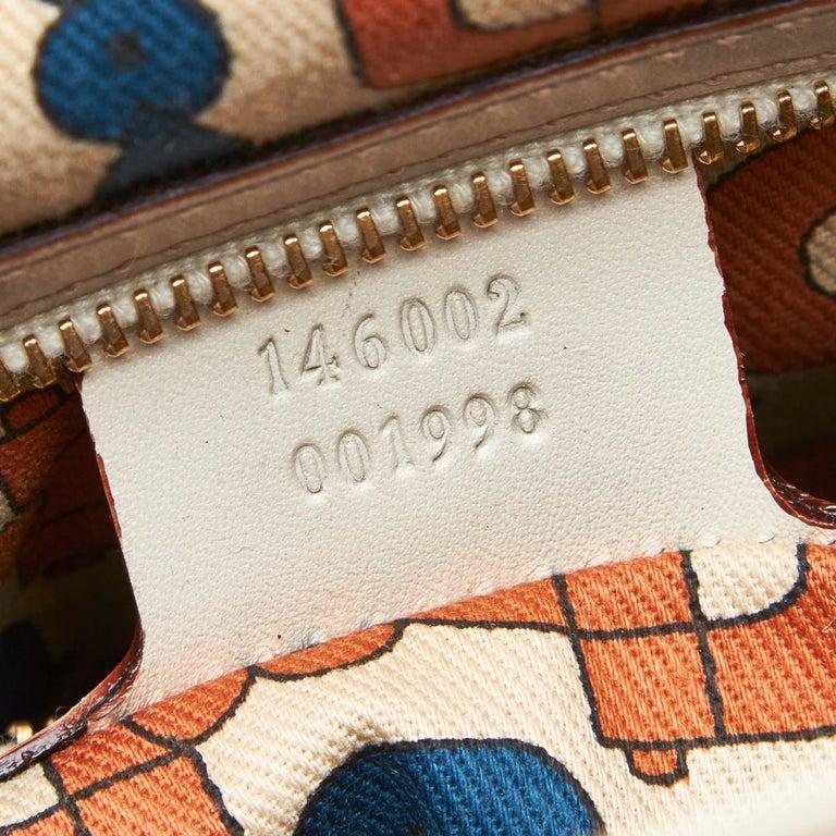 Gucci White Guccissima Leather Treasure Boston Bag For Sale 3