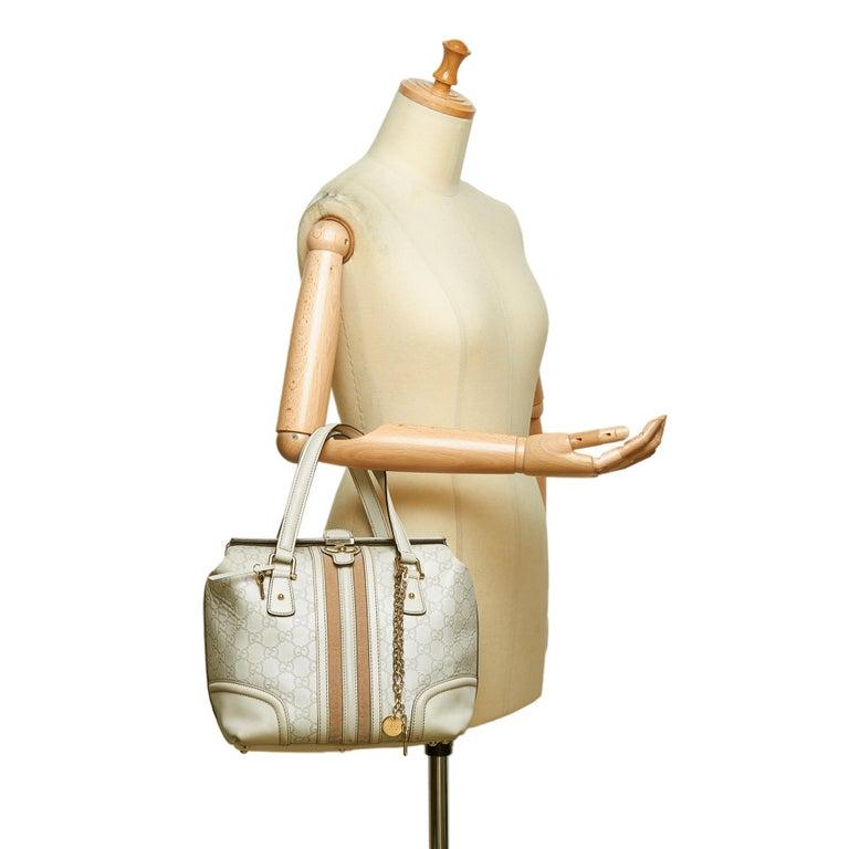 Gucci White Guccissima Leather Treasure Boston Bag For Sale 7