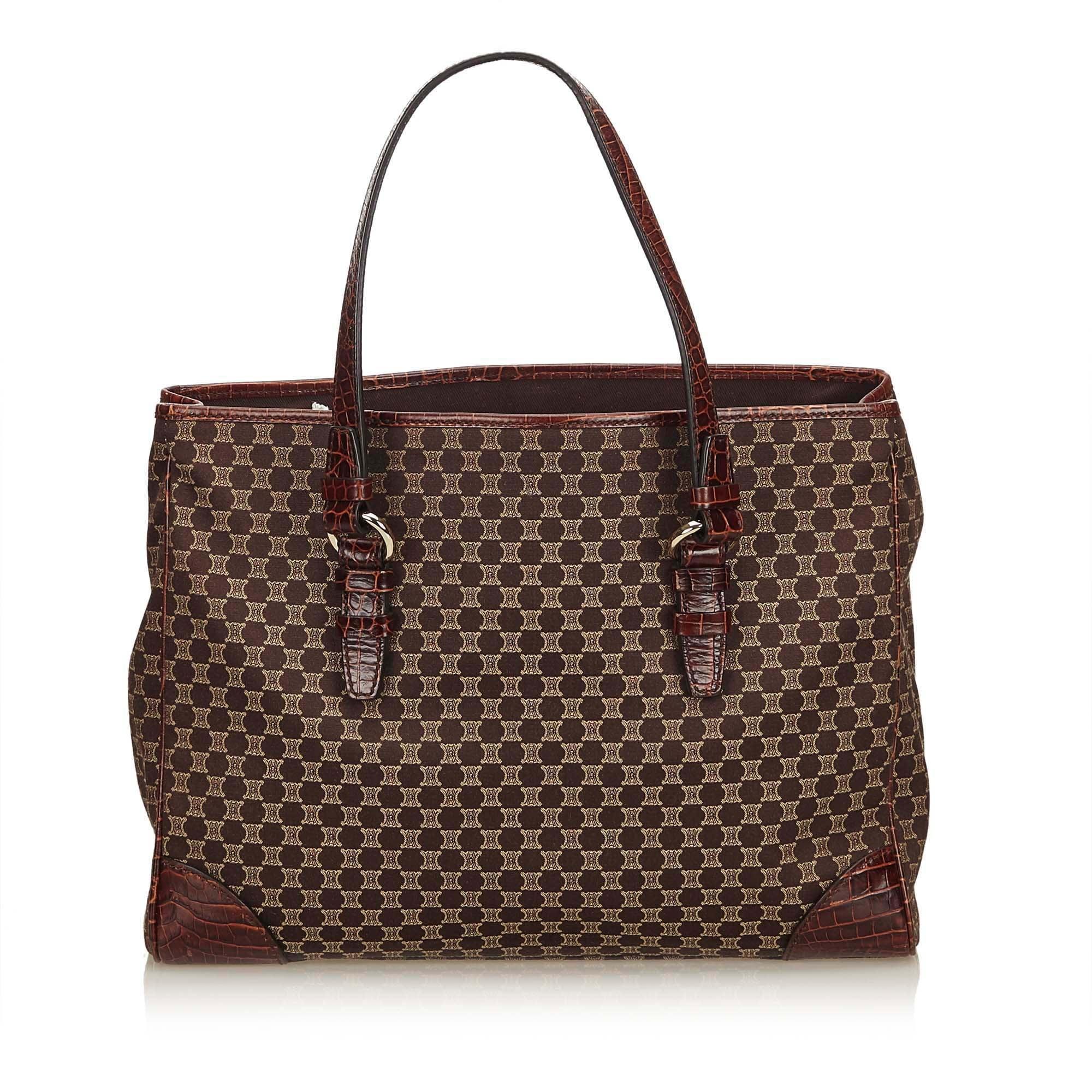 Celine Brown Macadam Jacquard Tote Bag at 1stdibs 814bbf53f7255