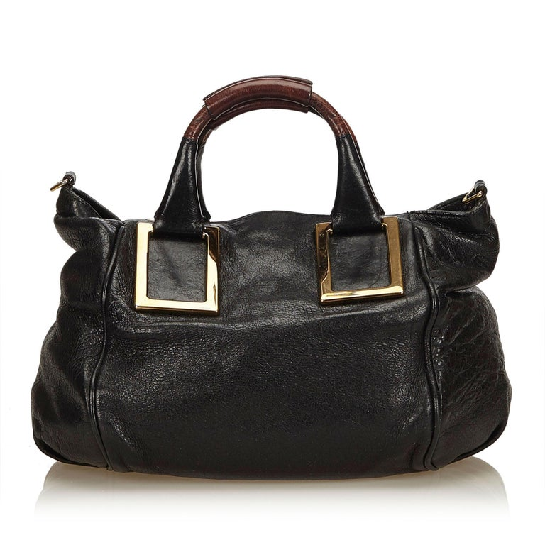 2108cdff71 Chloe Black Leather Ethel Satchel In Good Condition For Sale In Orlando, FL