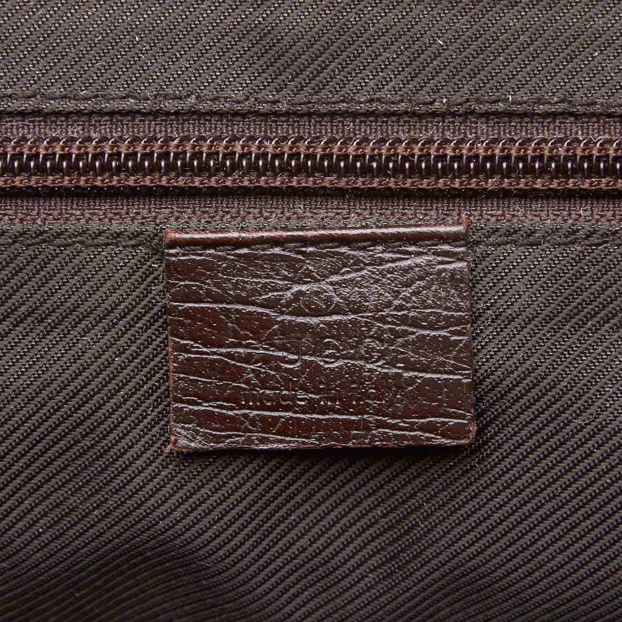 12b9272966e Gucci Brown x Beige Guccissima Canvas Crossbody Bag For Sale at 1stdibs