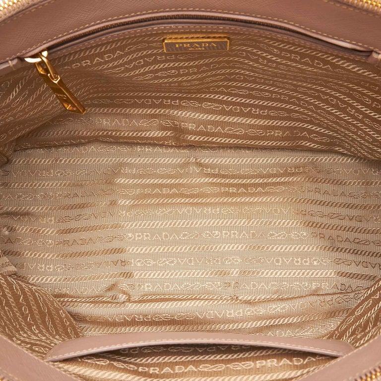 9ada81d5b041 Prada Beige Galleria Leather Satchel For Sale 1