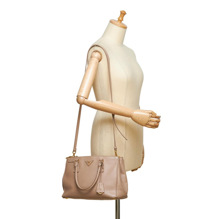 60b171080680 Prada Beige Galleria Leather Satchel For Sale 4