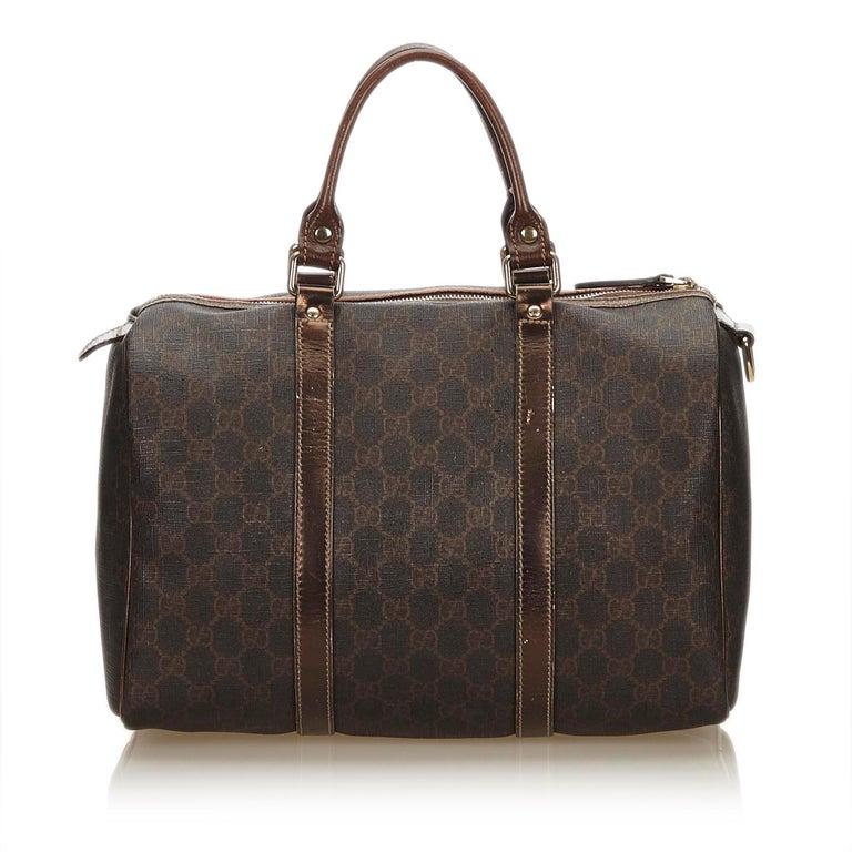 Gucci Brown X Dark Guccissima Joy Boston Bag