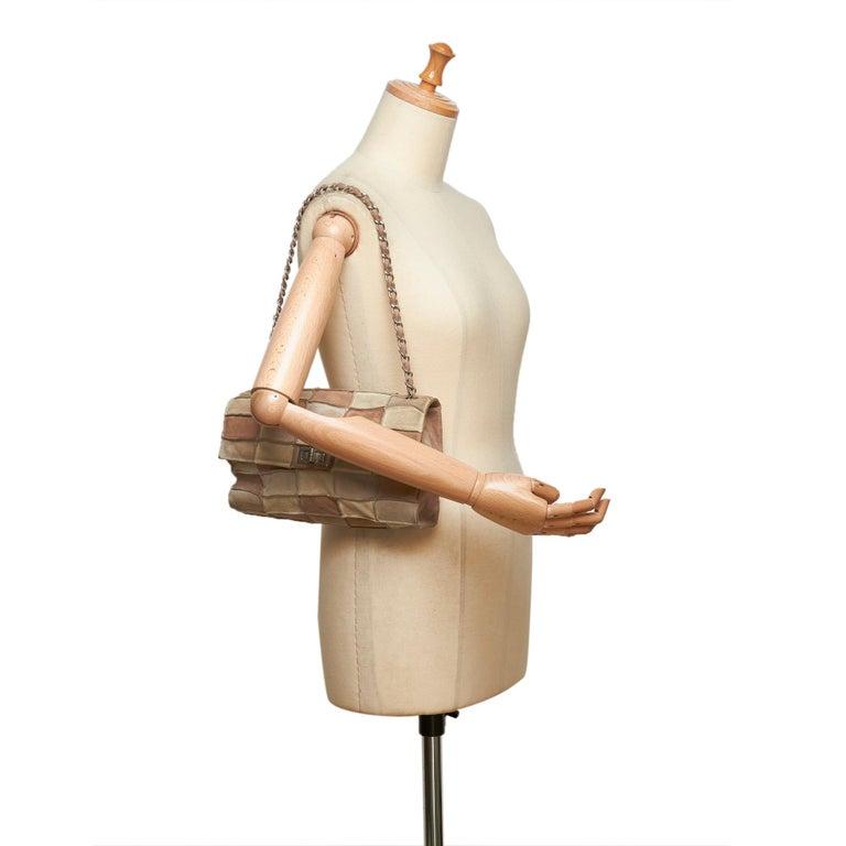 bdd354149271 Chanel Beige x Multi Reissue Patchwork Flap Bag For Sale 5
