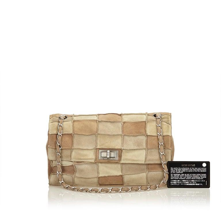 2b1a4f553502 Chanel Beige x Multi Reissue Patchwork Flap Bag For Sale 6