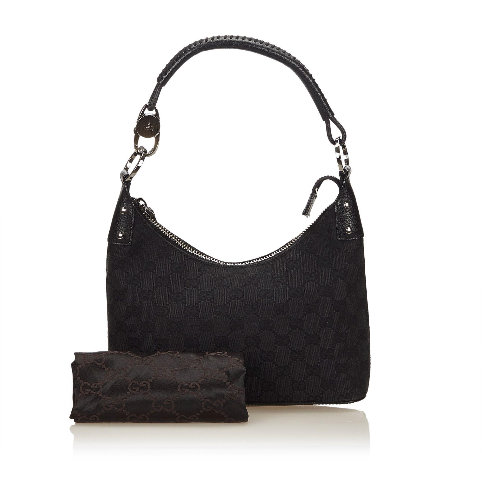 f3ff20258db9ce Gucci Black Guccissima Jacquard Hobo bag For Sale at 1stdibs