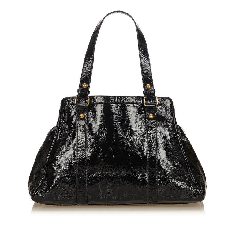 5c0950267000 Fendi Black Patent Leather de Jour Tote In Good Condition For Sale In  Orlando