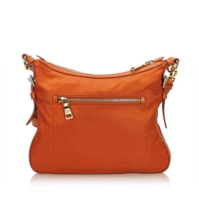 d56d37caf098 Red Prada Orange Nylon Crossbody Bag For Sale