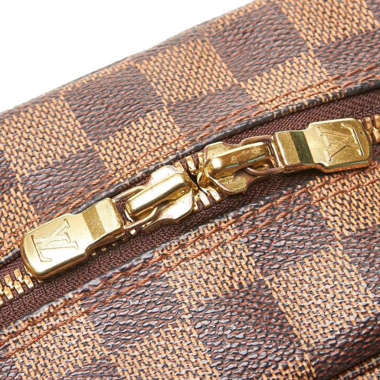 Louis Vuitton Brown Damier Ebene Naviglio For Sale 2
