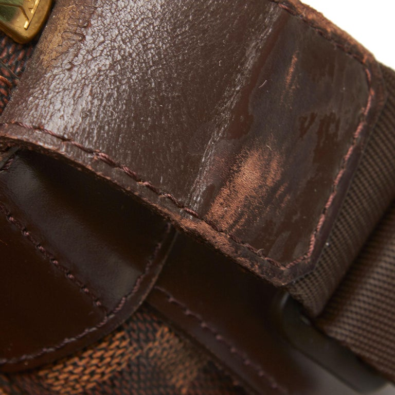 Louis Vuitton Brown Damier Ebene Naviglio For Sale 6