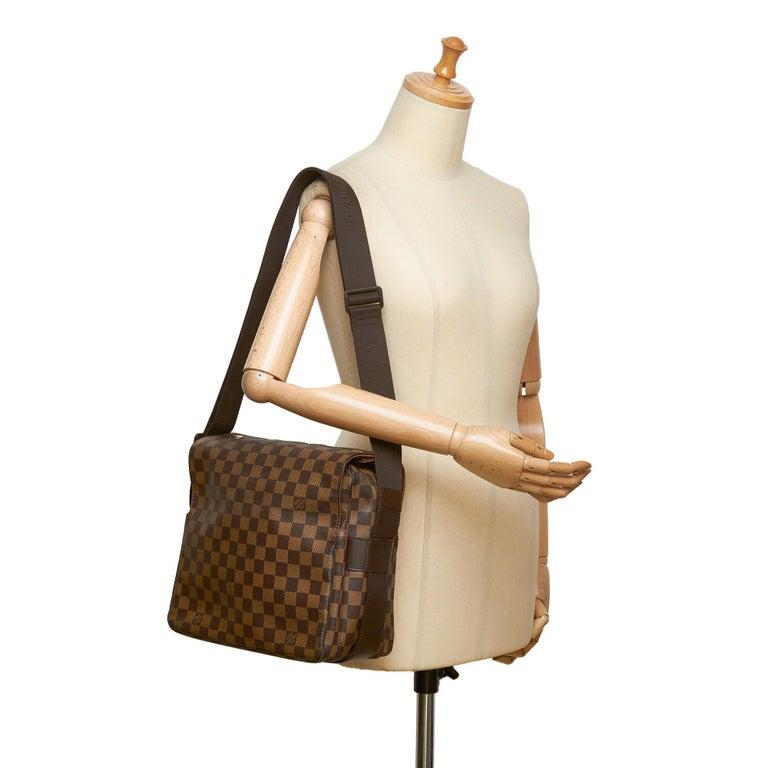 Louis Vuitton Brown Damier Ebene Naviglio For Sale 7