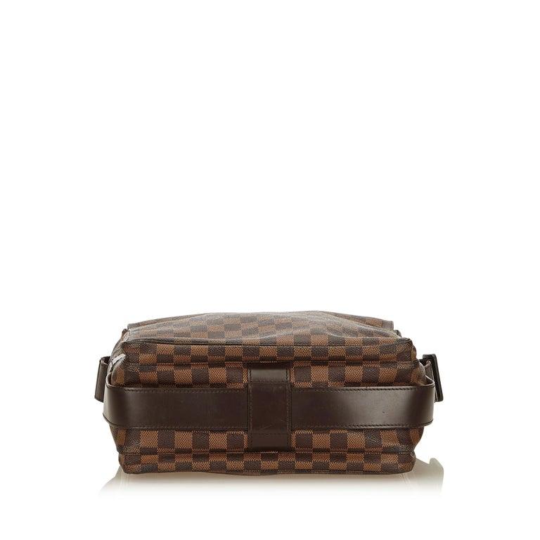 Louis Vuitton Brown Damier Ebene Naviglio In Good Condition For Sale In Orlando, FL