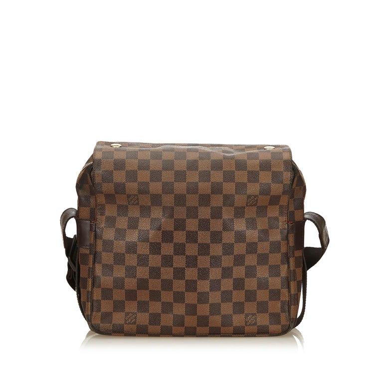Black Louis Vuitton Brown Damier Ebene Naviglio For Sale