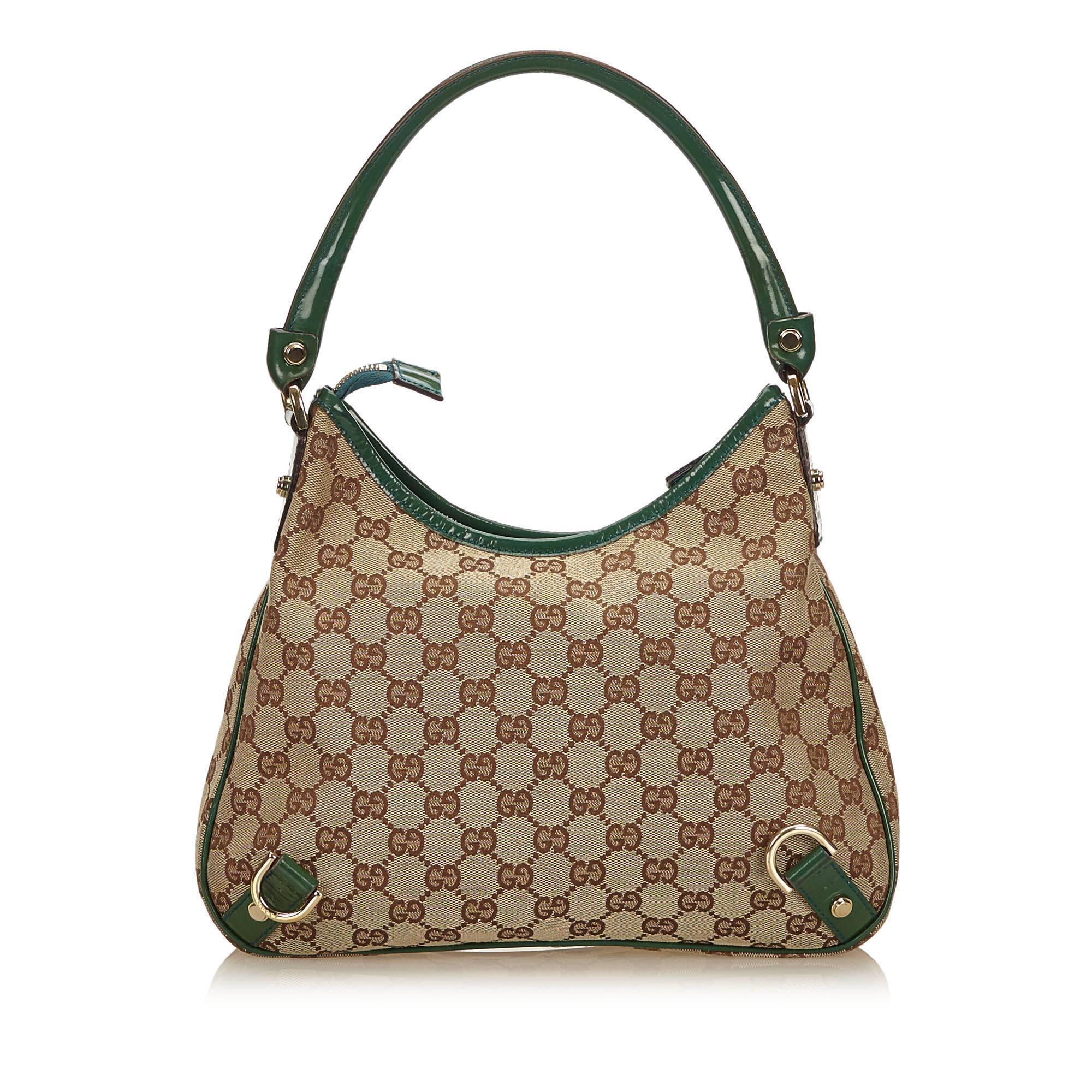f7b661e811c Gucci Brown x Green Guccissima Jacquard Abbey Hobo Bag at 1stdibs