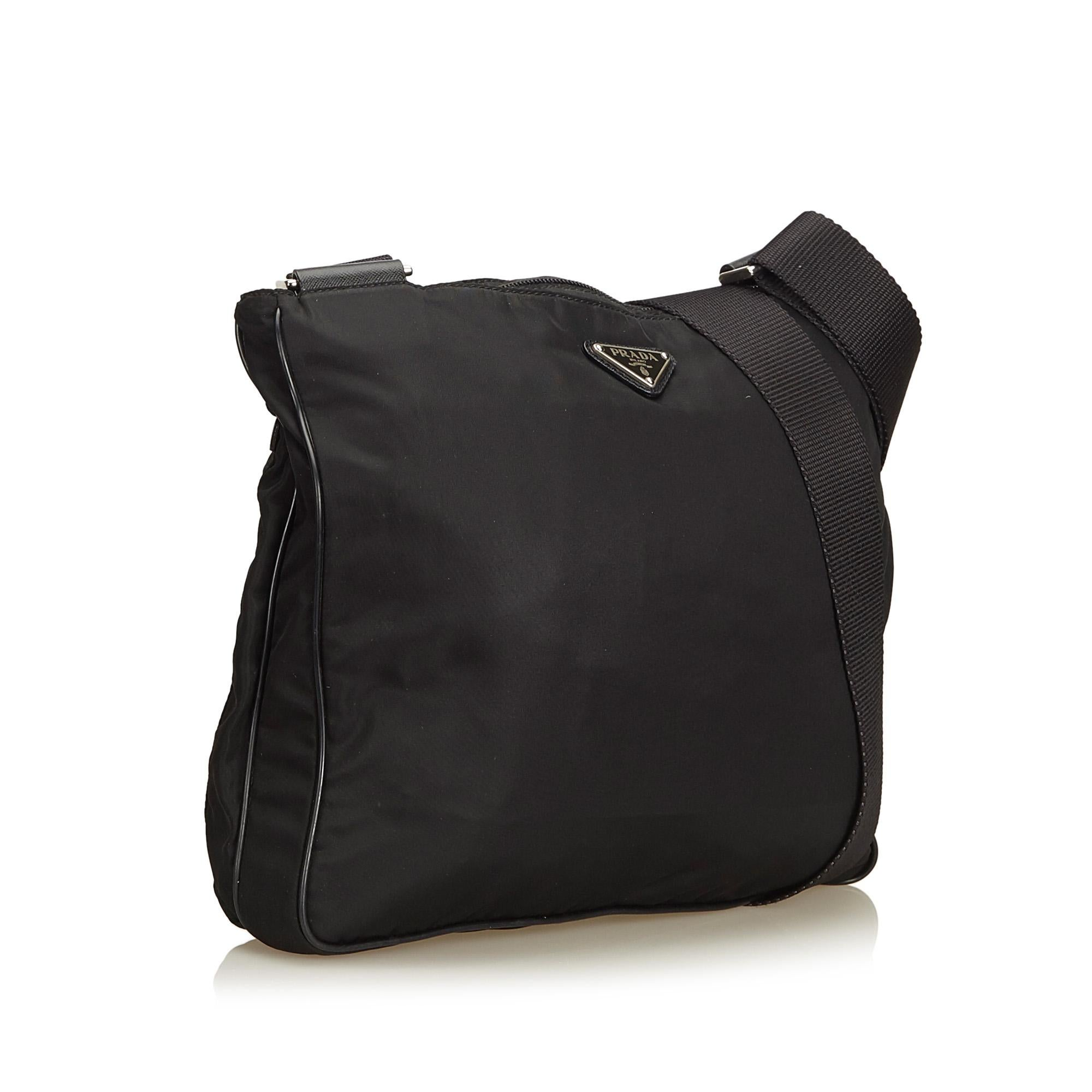 c38d1e701d07 Prada Black Tessuto Nylon Crossbody Bag