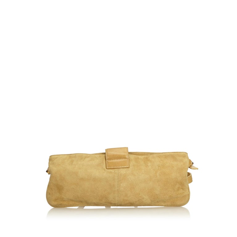 7ce1b6b964cd Fendi Brown x Beige Suede Crossbody Bag In Good Condition For Sale In  Orlando