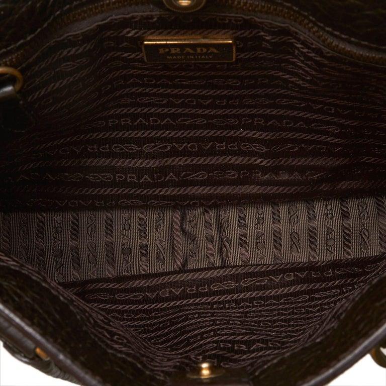 d46cd27d6cd2 Women's or Men's Prada Brown x Multi Printed Canvas Handbag For Sale