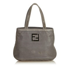 Fendi Gray Nubuck Leather Handbag