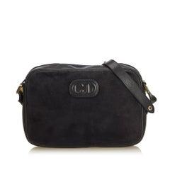Dior Black Nubuck Leather Crossbody Bag