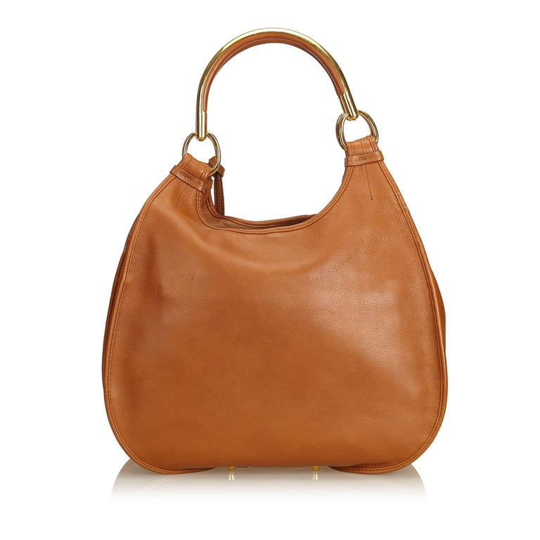 Dior Brown Embossed Leather 61 Hobo Bag At 1stdibs