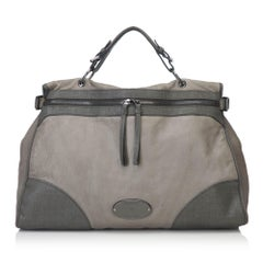 Mulberry Gray Leather Two Toned Satchel