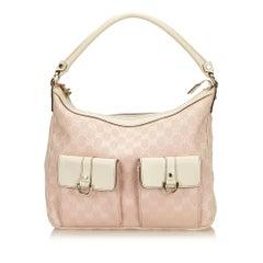 Gucci Pink Guccissima Jacquard Shoulder Bag