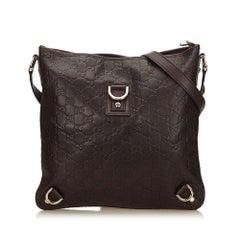 Gucci Brown Guccissima Abbey Leather Crossbody Bag