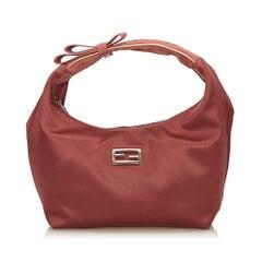 Fendi Red Satin Handbag