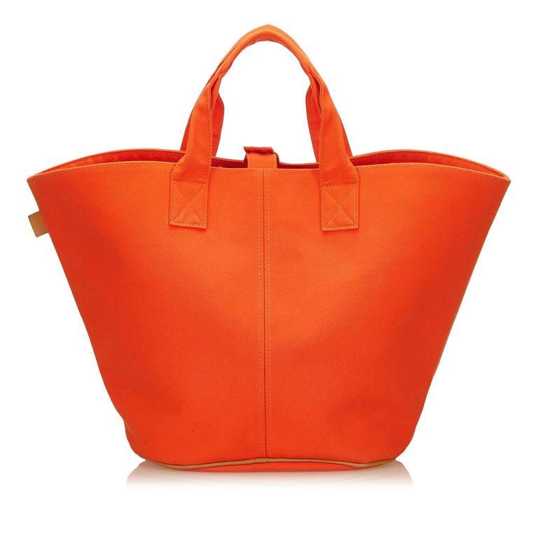 Hermès Orange Panier de Plage 3