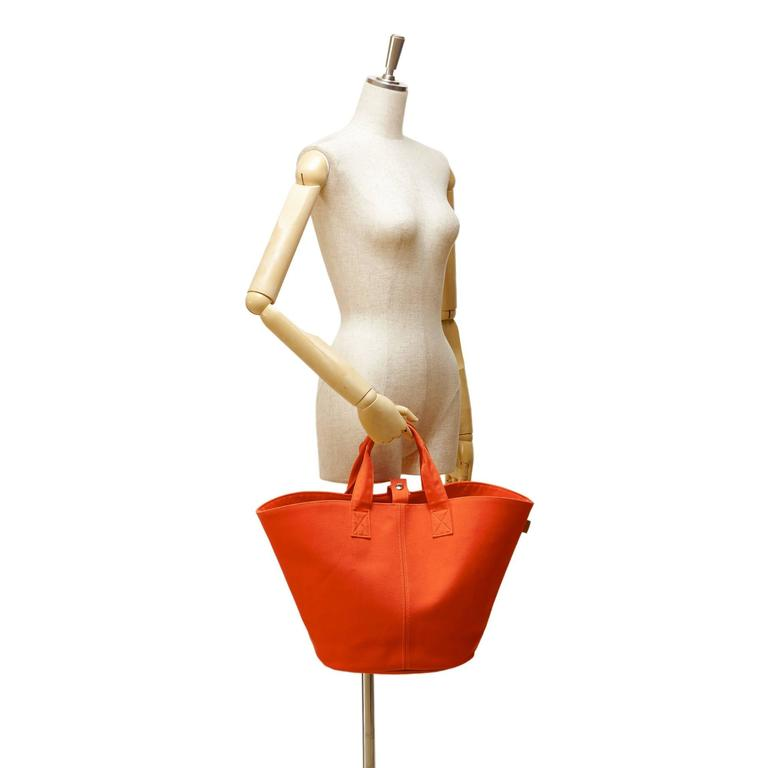 Hermès Orange Panier de Plage 8