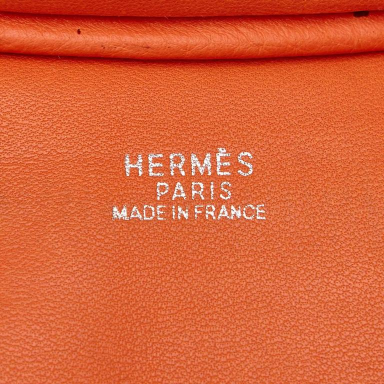 Hermes Orange Orange Cacahuete Shoulder Bag For Sale 2