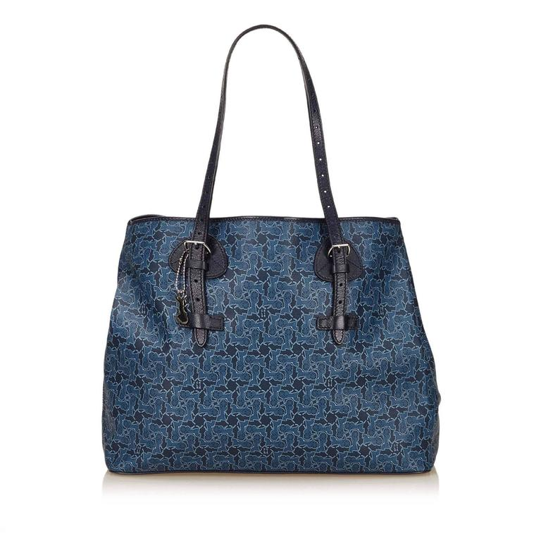 Celine Blue Tote Bag 3