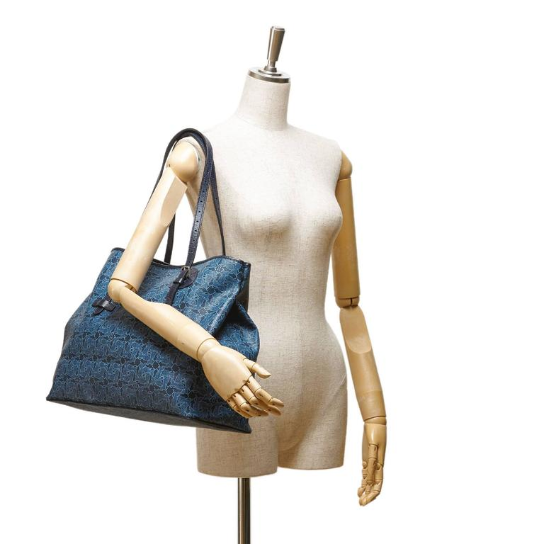 Celine Blue Tote Bag 7