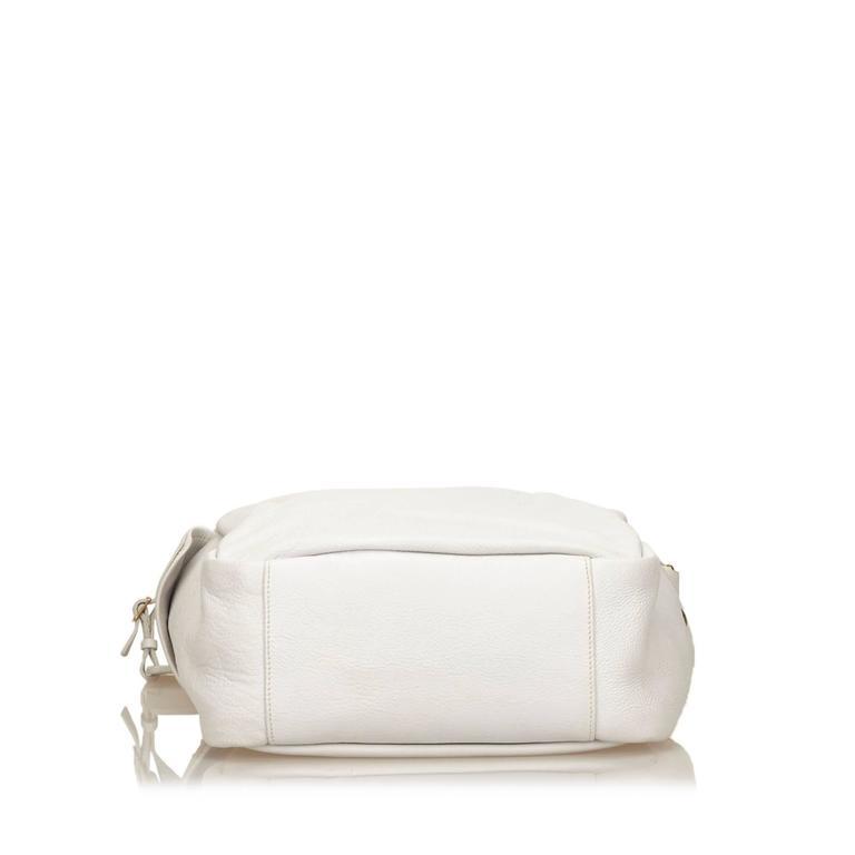 Ysl White Leather Shoulder Bag For Sale At 1stdibs