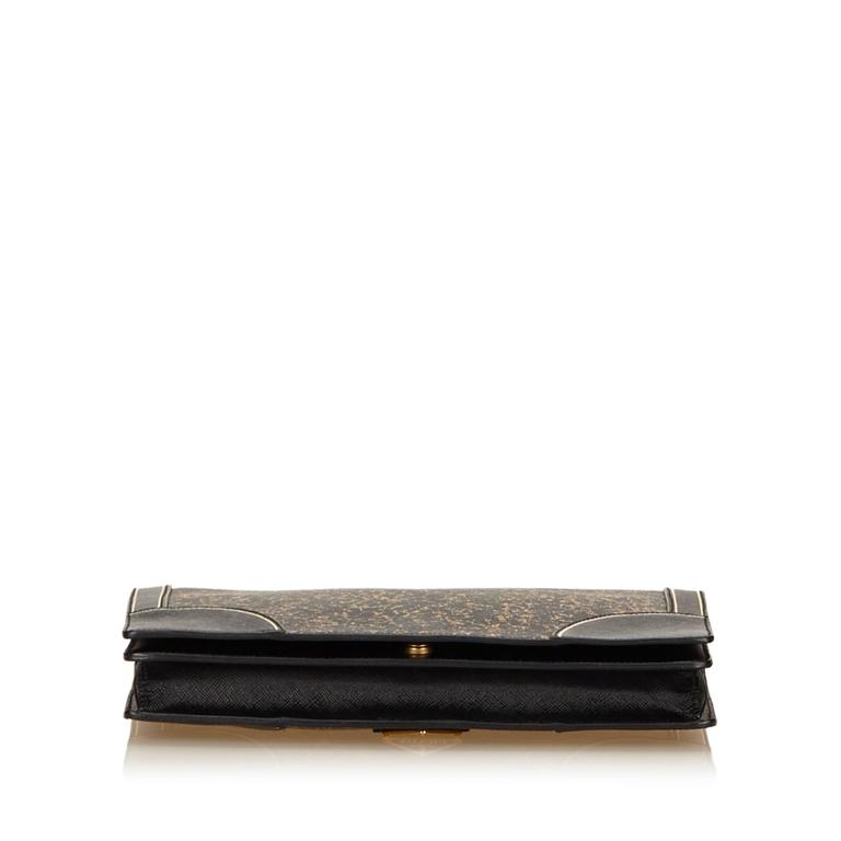 Women's or Men's Prada Black Leather Clutch For Sale
