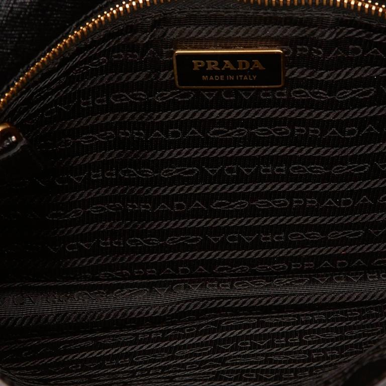 Prada Black Leather Clutch 5