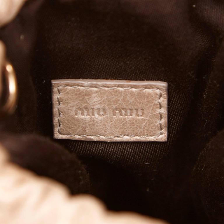 Miu Miu Brown Leather Gathered Shoulder Bag 6