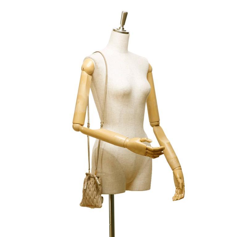 Miu Miu Brown Leather Gathered Shoulder Bag 7