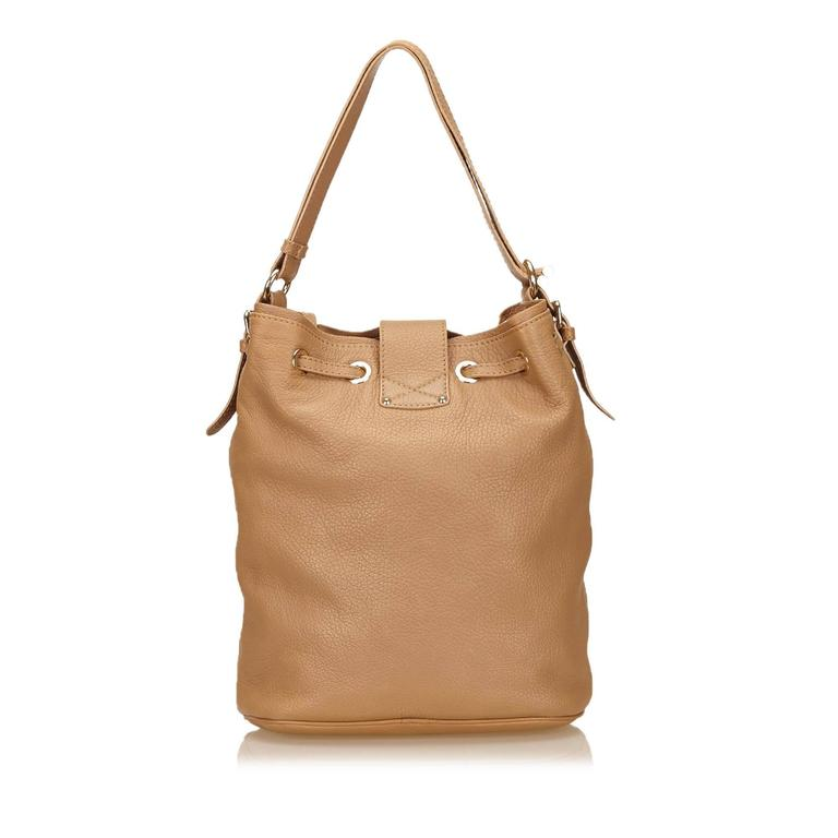 Jimmy Choo Brown Leather Shoulder Bag In Good Condition For Sale In Orlando, FL